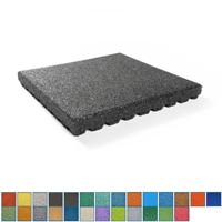 Gekleurde rubber tegels