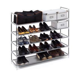 relaxdays schoenenrek voor 20 paar grijs