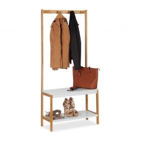 Garderobe standaard met schoenenrek en jashaken