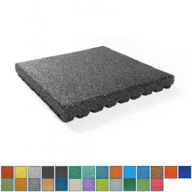10 cm dikke rubber tegel in RAL kleuren