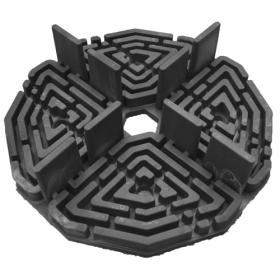 tegeldrager 10 mm zwart