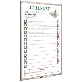 Planbord Checklist - 90x60 cm