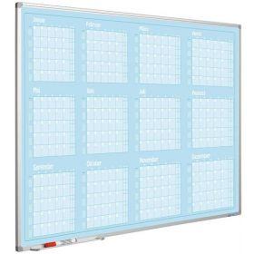 Jaarplanner blauw - 90x120 cm - Januari-December