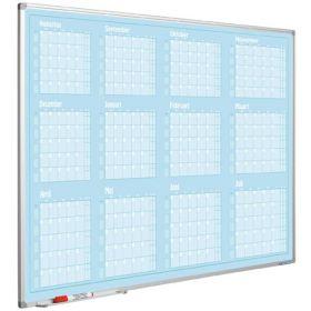 Jaarplanner blauw - 90x120 cm - Augustus-Juli