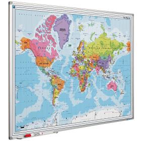 Whiteboard landkaart - Wereld