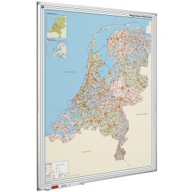 Whiteboard landkaart - Nederland wegenkaart
