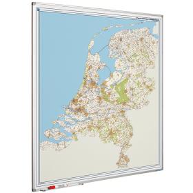 Whiteboard landkaart - Nederland postcodes