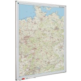 Whiteboard landkaart - Duitsland wegenkaart