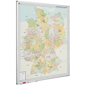Whiteboard landkaart - Duitsland postcodes