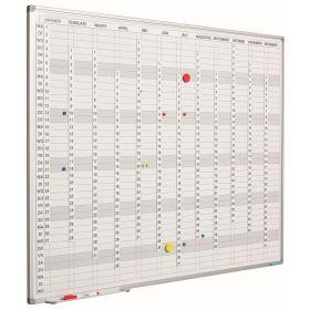 Jaarplanner verticaal incl. maand-/dag-/cijferstroken - 60x90 cm