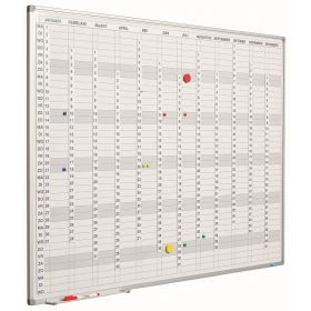 Jaarplanner verticaal incl. maand-/dag-/cijferstroken - 90x120 cm