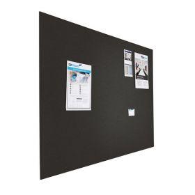 Prikbord bulletin - Zwevend - 120x200 cm - Zwart 1