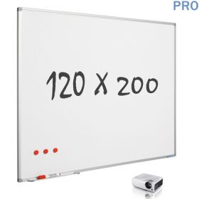 mat whiteboard emaille projectiebord 120 x 200 cm