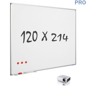 mat whiteboard emaille projectiebord 120 x 214 cm