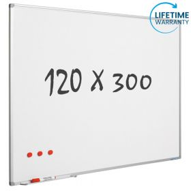 whiteboard emaille 120 x 300 cm