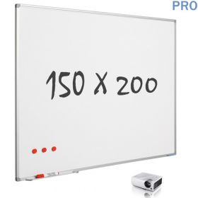mat whiteboard projectiebord emaille 150 x 200 cm