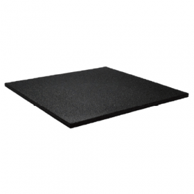 Sportvloer tegel 100x100cm 15mm - Fijne korrel - Zwart