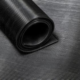 Rubber loper / rubbermat op rol - fijne ribbel - Dikte 3mm - Breedte 50 cm