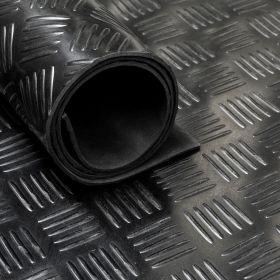 Rubber loper / rubbermat op rol Traanplaat 3mm - Breedte 150 cm