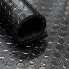 Rubber loper / rubbermat op rol Cirkel 3mm - Breedte 120 cm