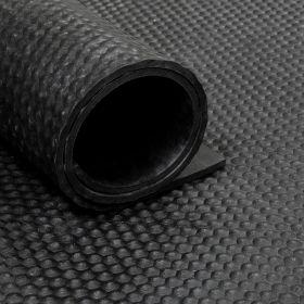 Rubber loper / rubbermat op rol Hamerslag 6mm - Breedte 200 cm