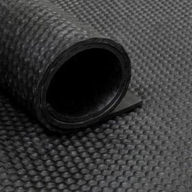Rubber loper / rubbermat op rol van 16,5 m2 hamerslag 8 mm