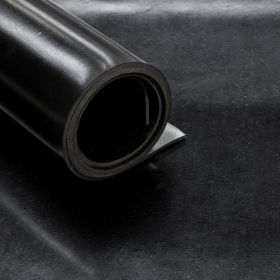 Rubberplaat - CR Neopreen -  Dikte 8mm - Breedte 140 cm - Rol van 5 m