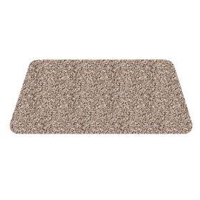 beige wasbare mat