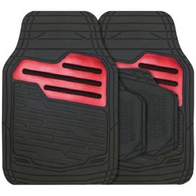 Rubber automatten set universeel - Zwart / Rood 1