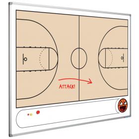 Whiteboard met Basketbalveld - 90 x 120 cm