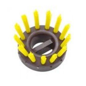inzetborstel ringmat geel