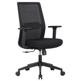bureaustoel napoli zwart stof