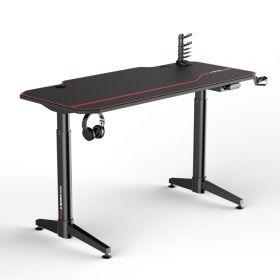Gaming bureau zwart/rood - Elektrisch verstelbaar - 140x66 cm