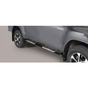 Sidebars Toyota Hilux D.C. 2016 - Design - Zwart