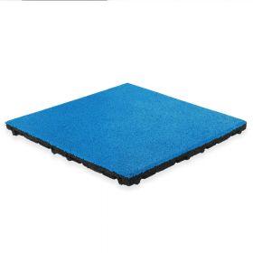 Rubber tegel met EPDM toplaag - 50 x 50 cm - 45 mm - Licht blauw (RAL 5015)