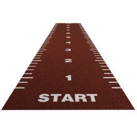 Sprinttrack Essential (kunstgras) - 20 x 2 m - Brick rood