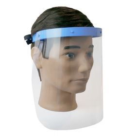 Gelaatsscherm met 2 PVC schermen - Houder van medisch kunststof