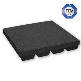 zwarte rubber tegel 45 mm