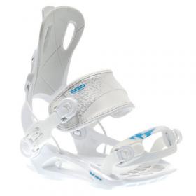 RAGE FT270 White - snowboard bindingen - FASTEC - maat M