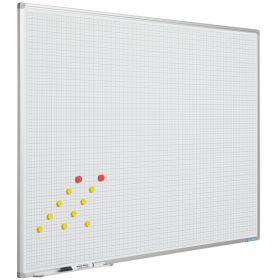 Whiteboard met Ruit, 100 x 200 cm