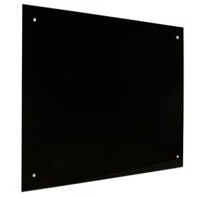 zwart glasbord 90x120 cm