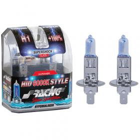 Xenonlook lampen Halogeen 'HID Style' H1 (6000K) Hyperwhite 12V/55W, set à 2 stuks ECE-R37