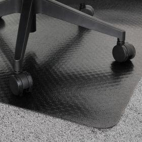 vloerbeschermer bureaustoelmat zwart 120x150 cm - voor tapijt