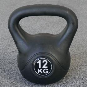 Kettlebell voor binnen en buiten - Kunststof - Zwart - 12 kg