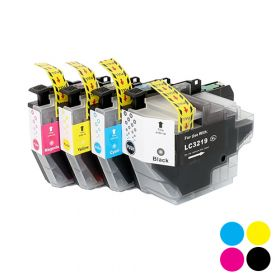 IVOL vervangende cartridge voor Brother LC-3219XLCYMBK - Cyaan, Geel, Magenta, Zwart