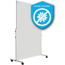 Verrijdbare scheidingswand whiteboard - Extra hygiënisch emaille - 180x120 cm