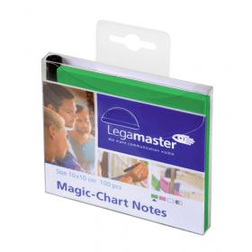 Magic-Chart Notes 10x10 cm - Groen- 100 stuks 1