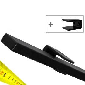 Design trapleuning zwart rechthoekig op maat + houders