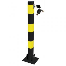 Anti-parkeer paal - Rond - Geel / zwart 1