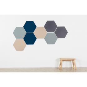 Design prikbord zeshoek - kleurcode 2206 - lichtgrijs